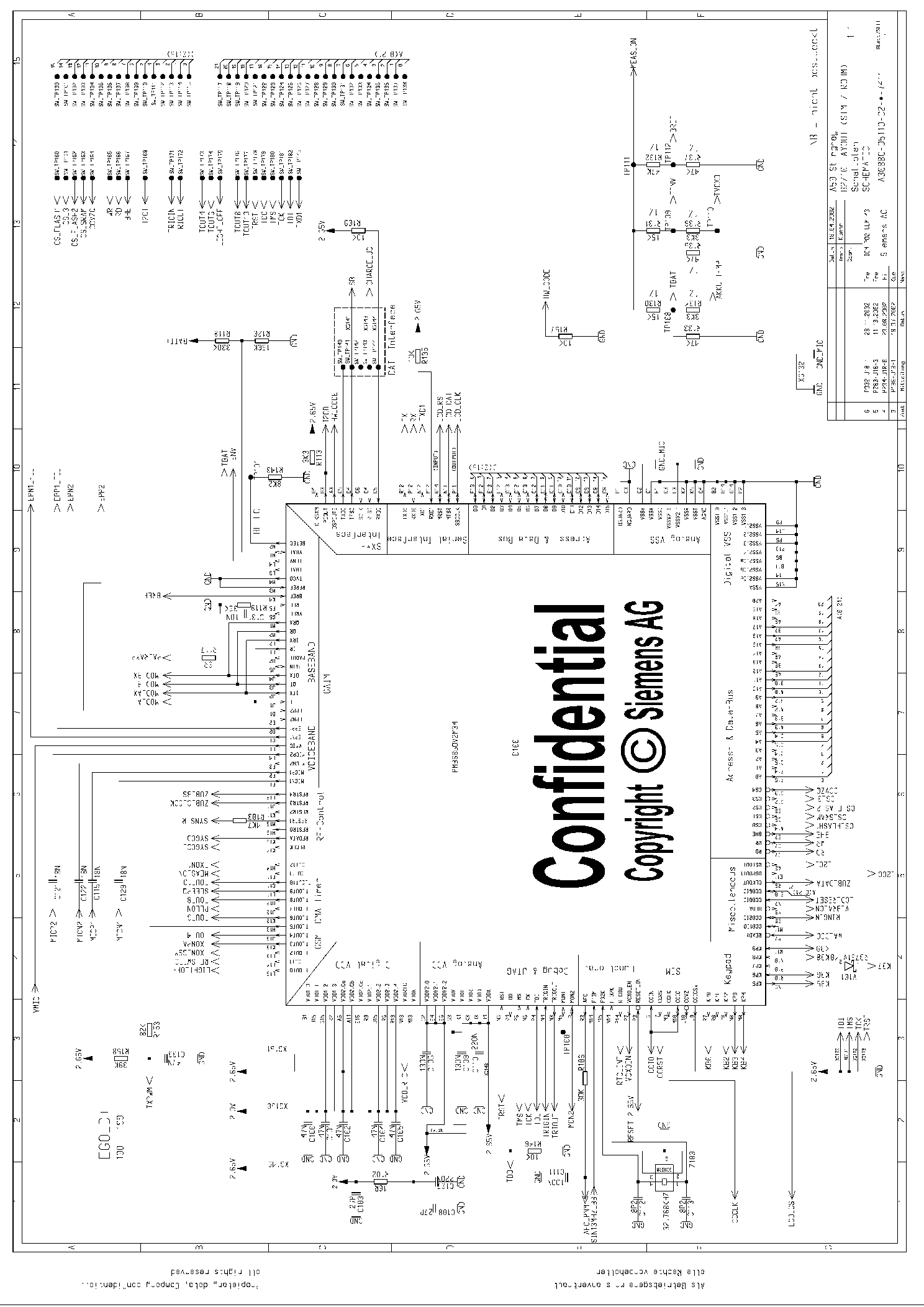 SIEMENS A50 SCHEMATICS Service Manual download, schematics