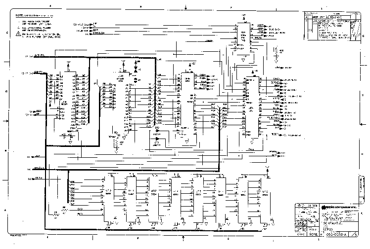 APPLE 2 SCHEMATIC Service Manual download, schematics