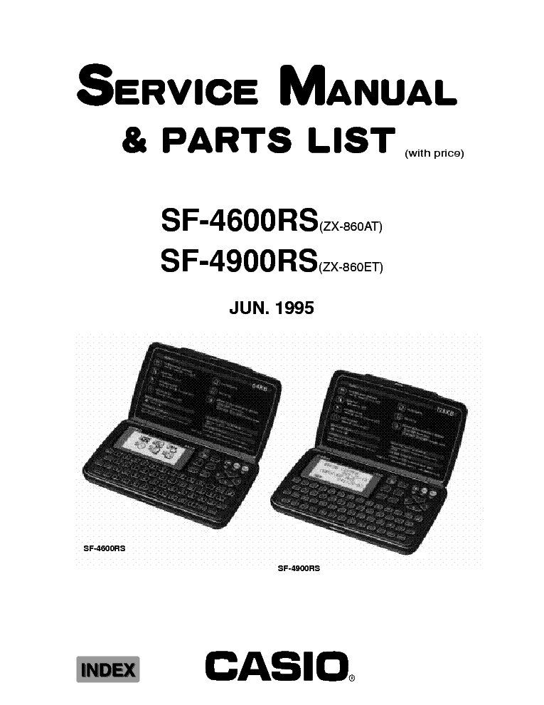 CASIO SF-4600RS 4900RS ELECTRONIC-DIARIES SM Service