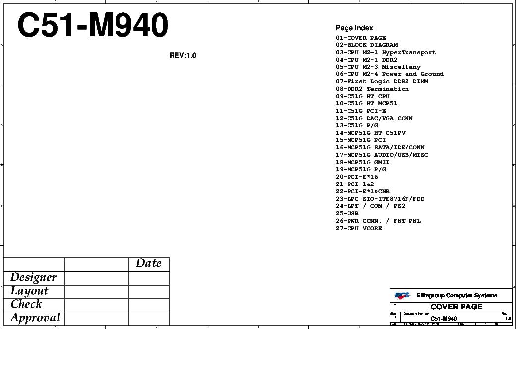 ECS K8M800-M3 REV 1.0A SCH Service Manual download