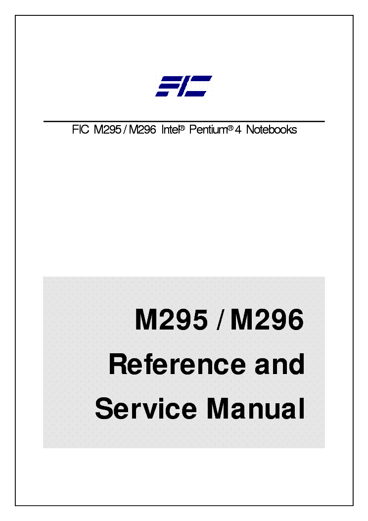 FIC M295 M296 Service Manual download, schematics, eeprom