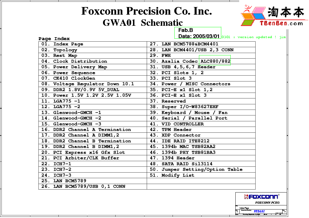 FOXCONN 955A01 GWA01 REV B SCH Service Manual download