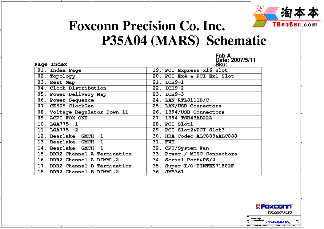 FOXCONN G31M09 Service Manual download, schematics, eeprom