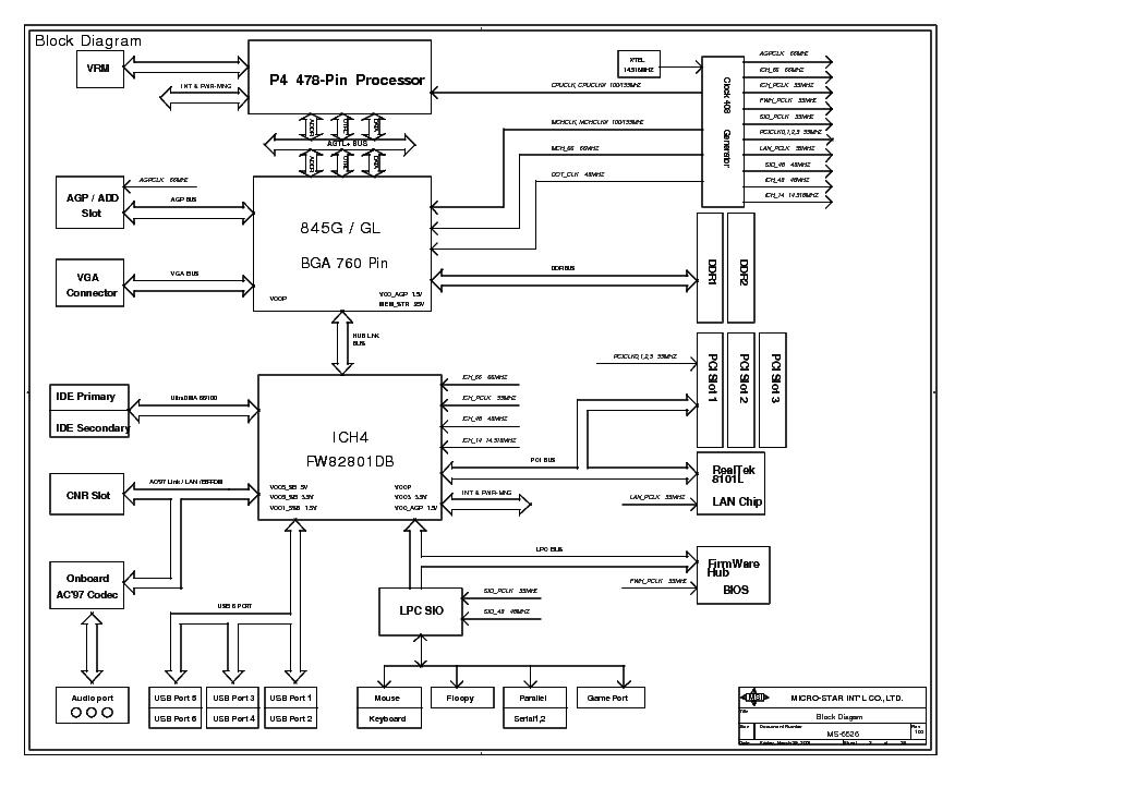 MSI MS-6526 REV 100 SCH Service Manual download