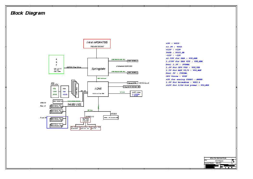 MSI MS-6747 REV 0B SCH Service Manual download, schematics