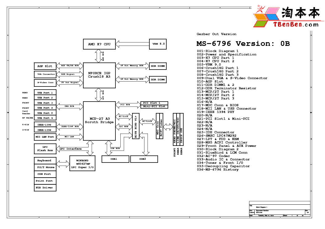 MSI MS-7204 REV 1.B SCH Service Manual download