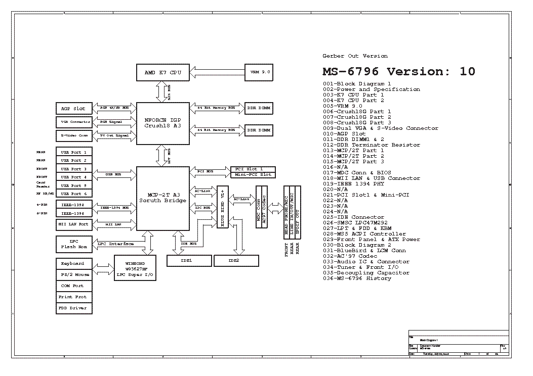 MSI MS-7168 REV 0A SCH Service Manual free download