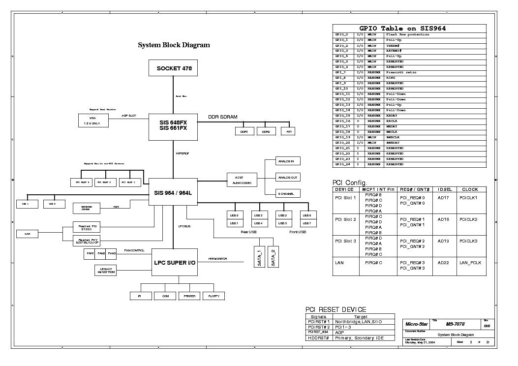 MSI MS-7078 REV 100 SCH Service Manual download