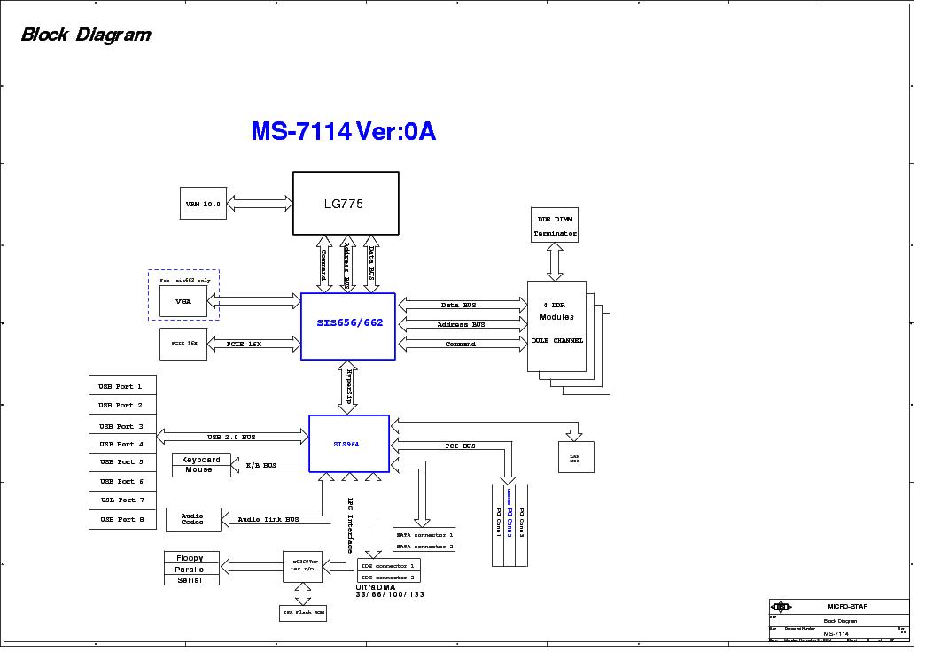MSI MS-7114 REV 0B SCH Service Manual download, schematics