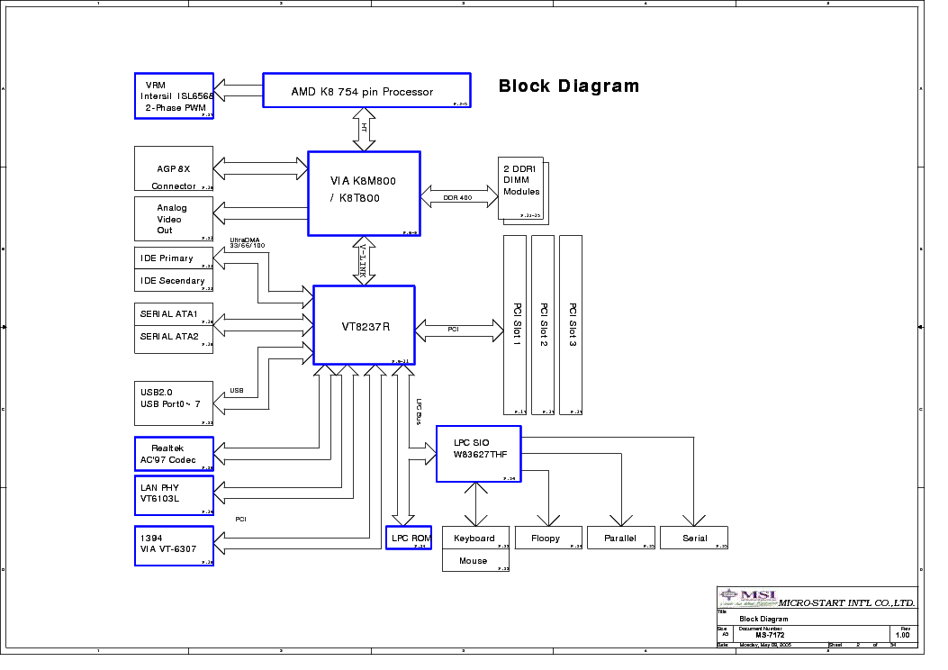 MSI MS-7172 REV 1.00 SCH Service Manual download