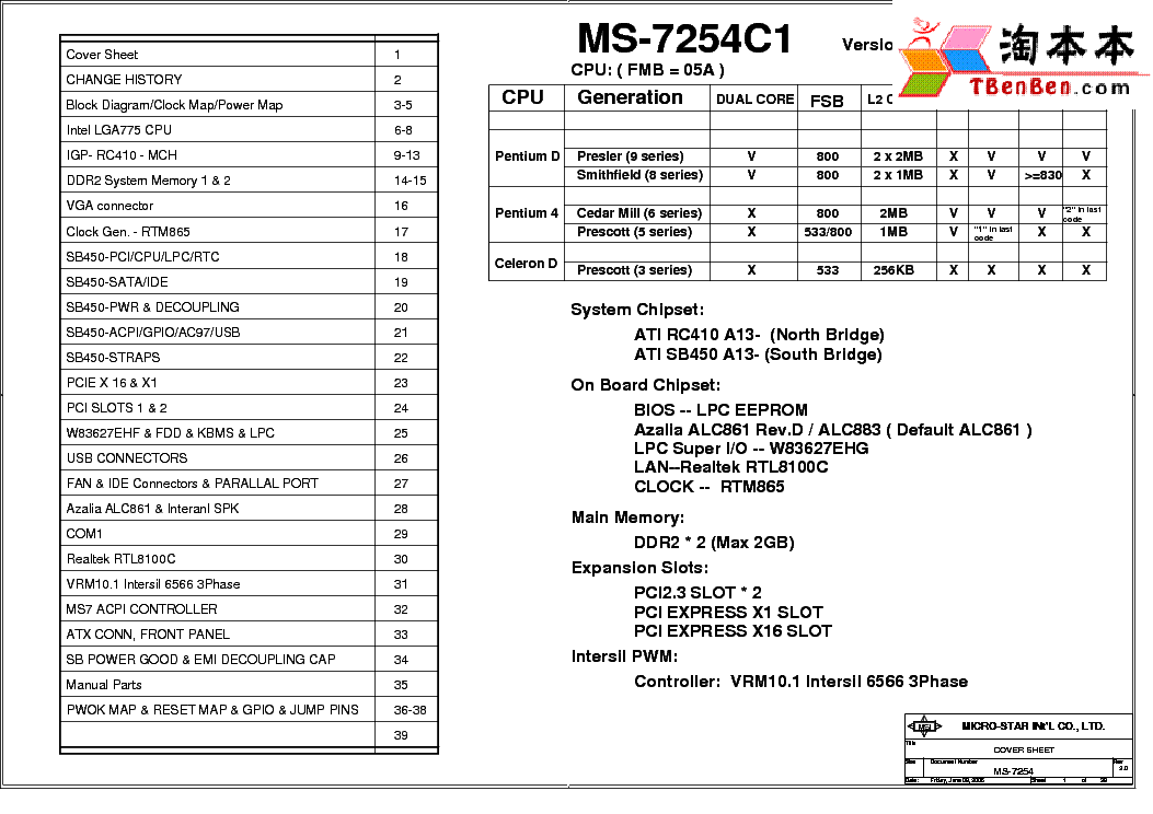 MSI MS-9145 REV 3.00 SCH Service Manual free download