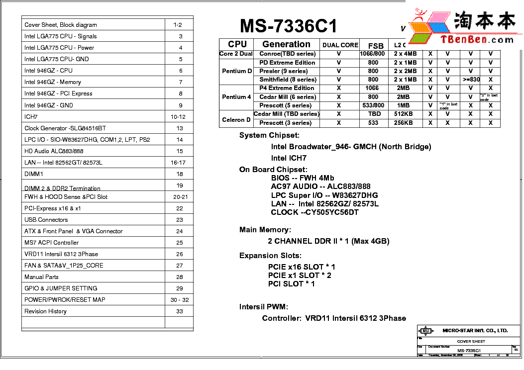MSI MS-7284 REV 100 SCH Service Manual download