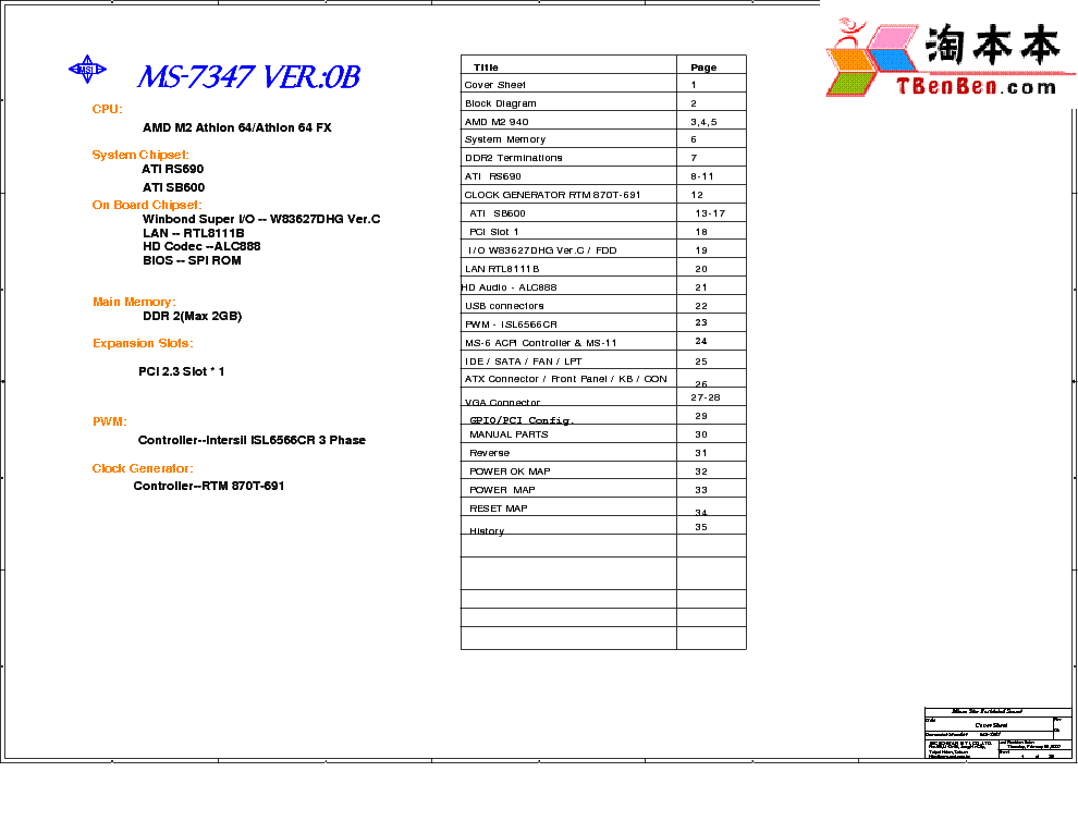 MSI MS-6410 7231 REV 2.1 SCH Service Manual free download