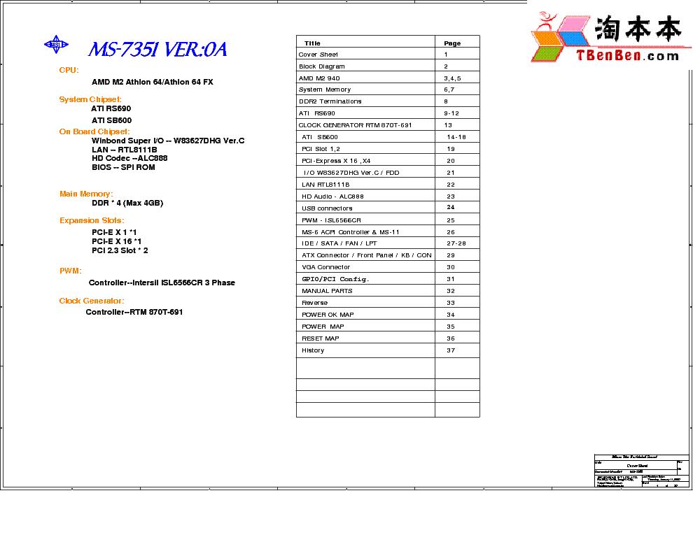 MSI MS-7295 REV 1.0 SCH Service Manual download