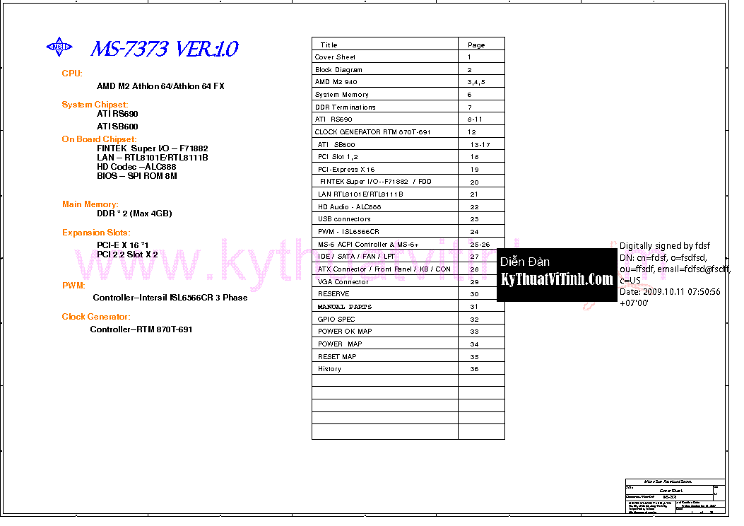 MSI MS-7373 REV 1.1 SCH Service Manual download