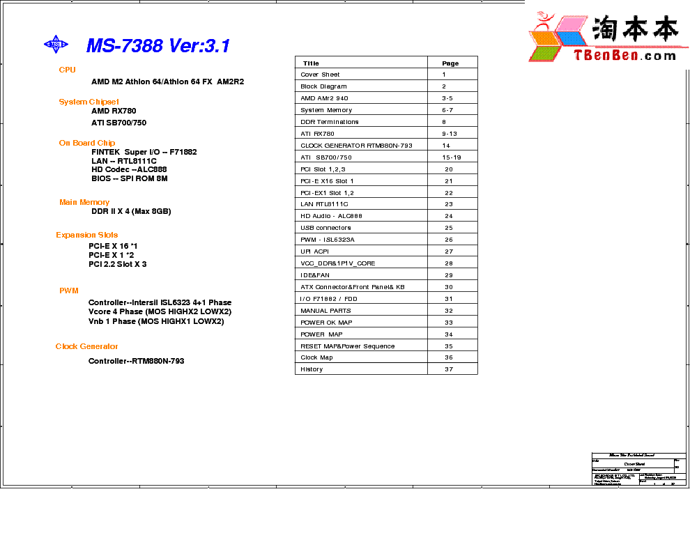 MSI MS-7388 REV 3.1 SCH Service Manual download