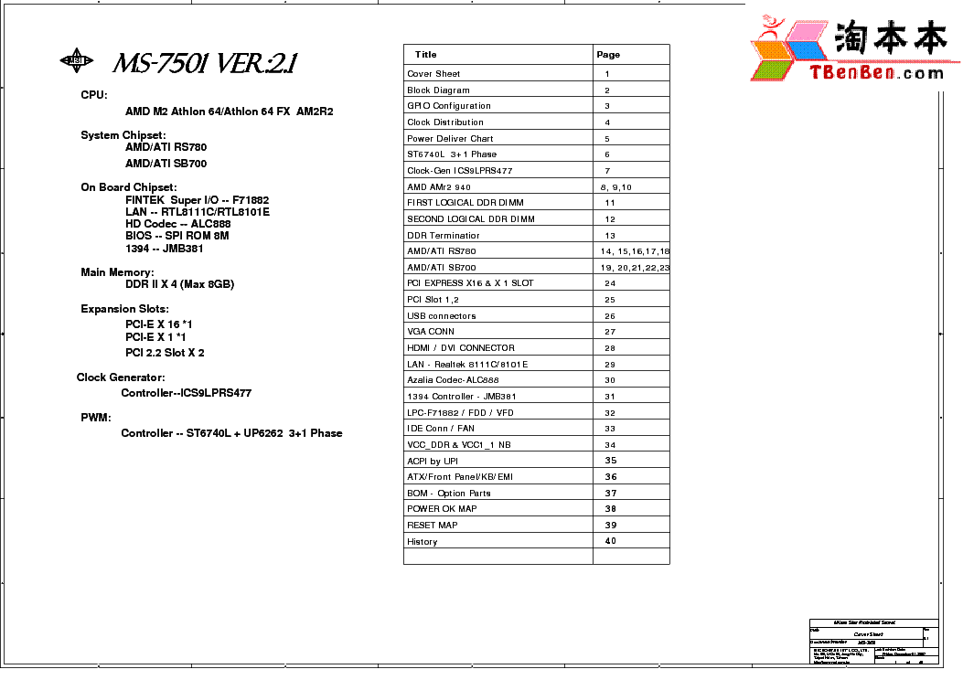 MSI MS-7501 REV 2.1 SCH Service Manual download