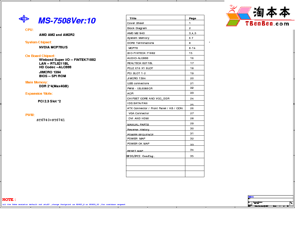 MSI MS-7504 REV 1.0 SCH Service Manual free download