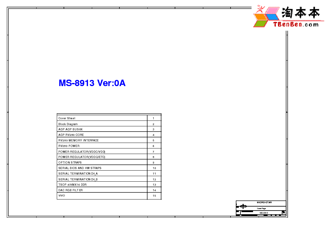 MSI MS-7309 REV 0A SCH Service Manual free download