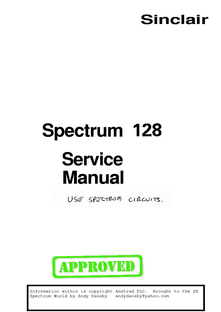SINCLAIR ZX SPECTRUM 48K SM Service Manual download