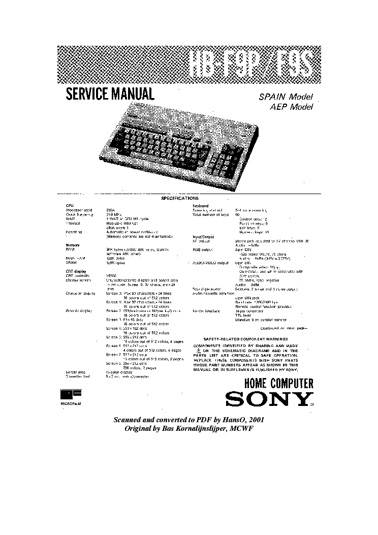 SONY HES-V1000 BDS-01 MEDIA-SERVER TRAINING Service Manual