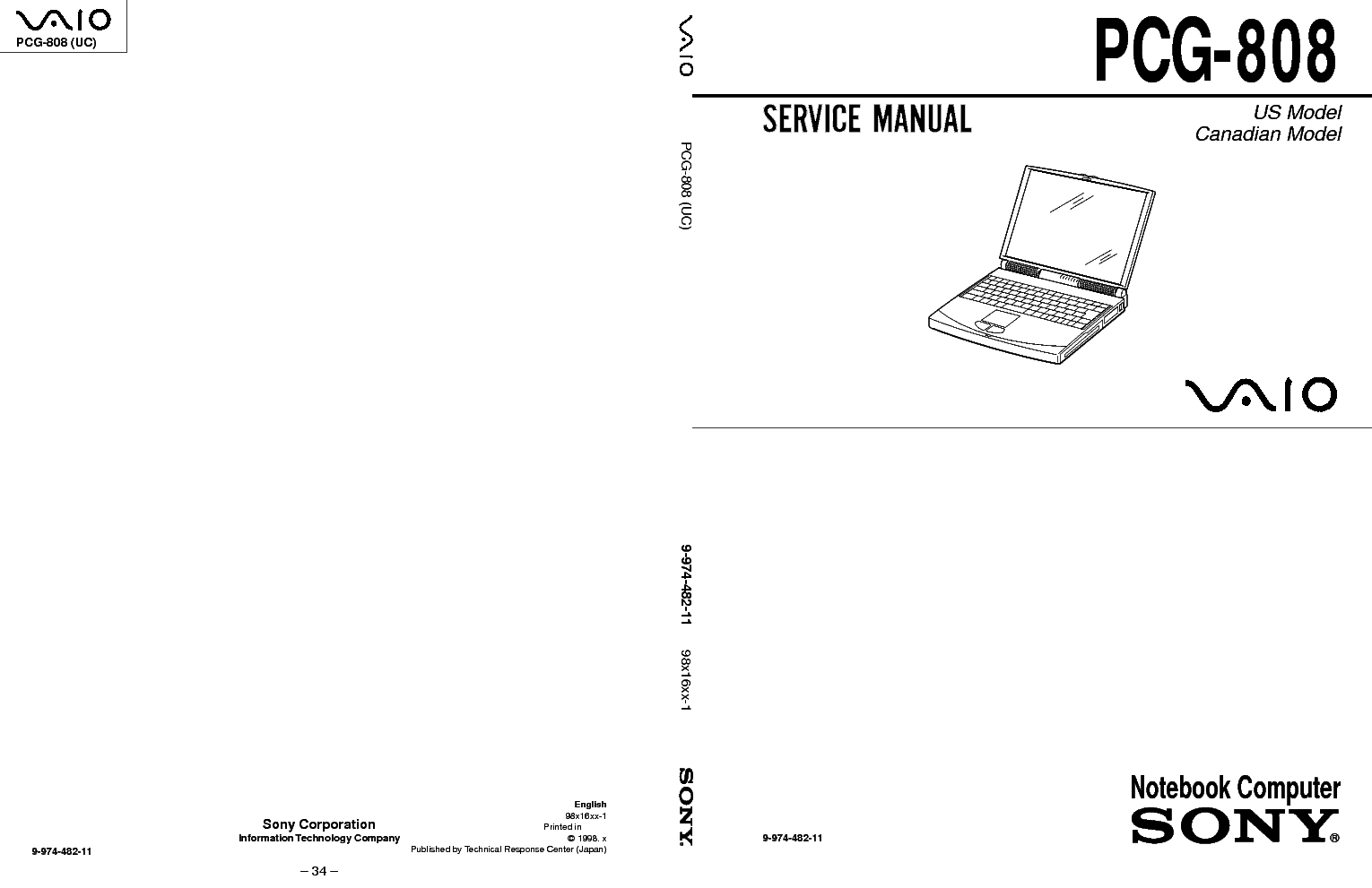 SONY PCG-F430 F450 Service Manual free download