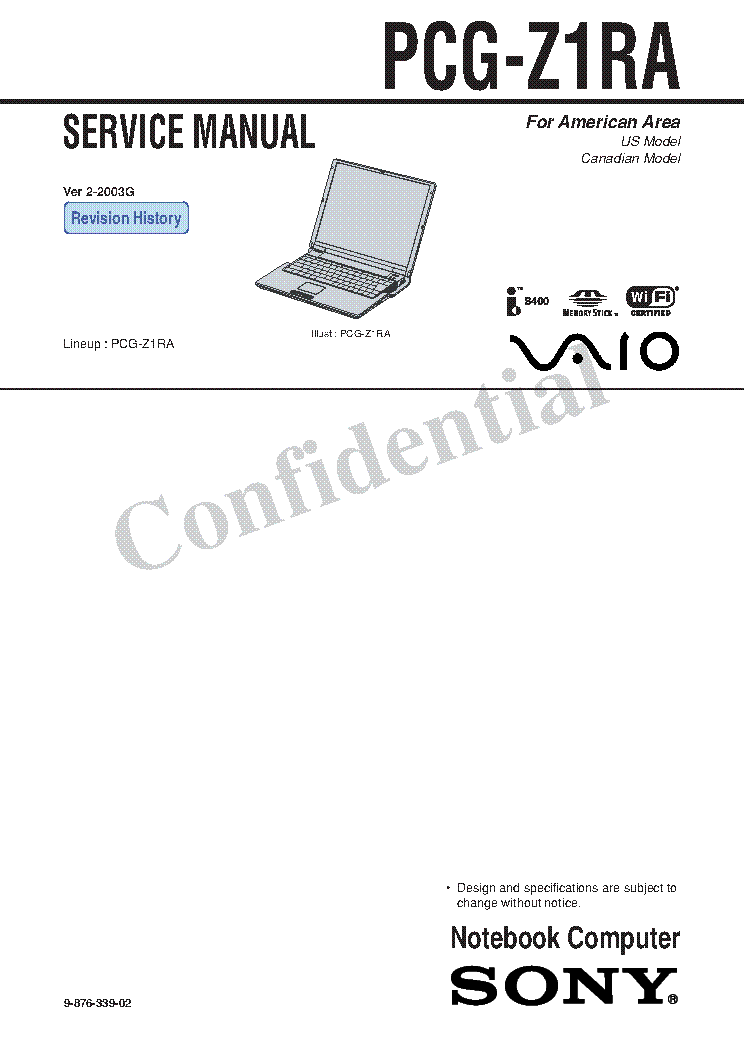 SONY VAIO VGN FE SERIES Service Manual download