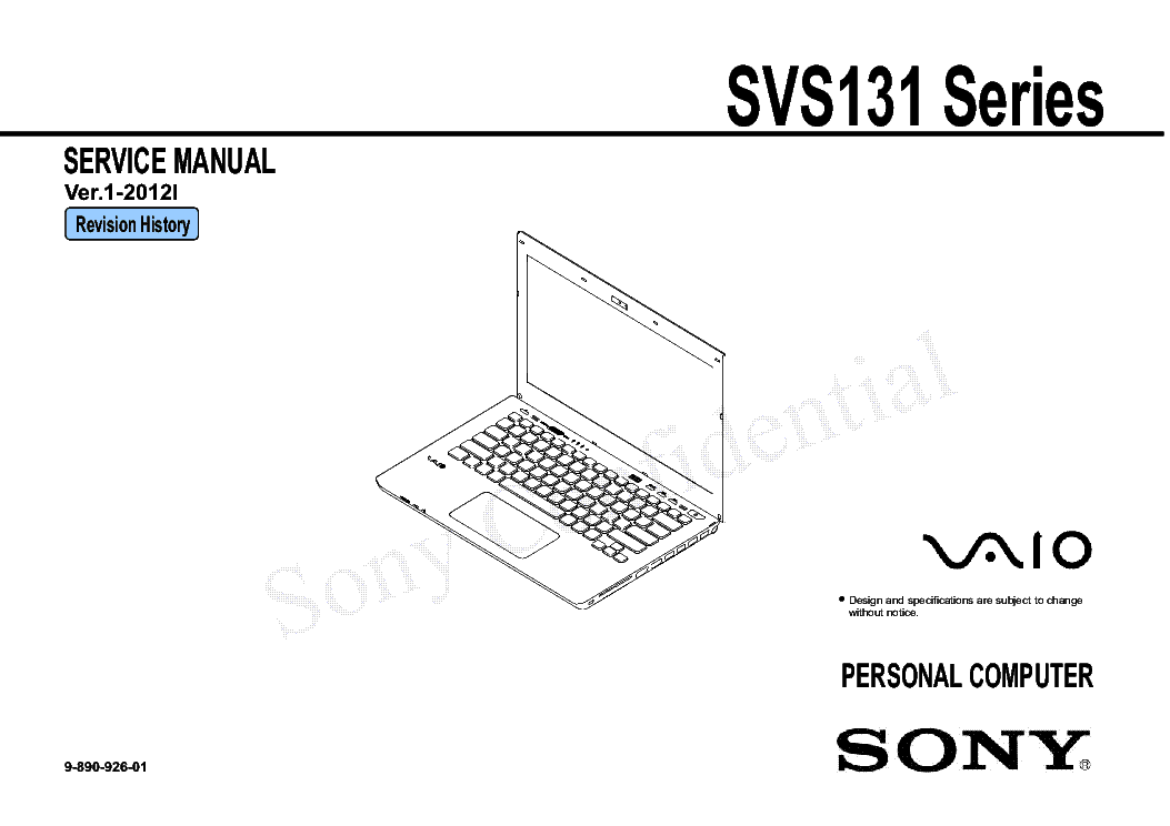 SONY SVS131 SERIES VER.1-2012I Service Manual download