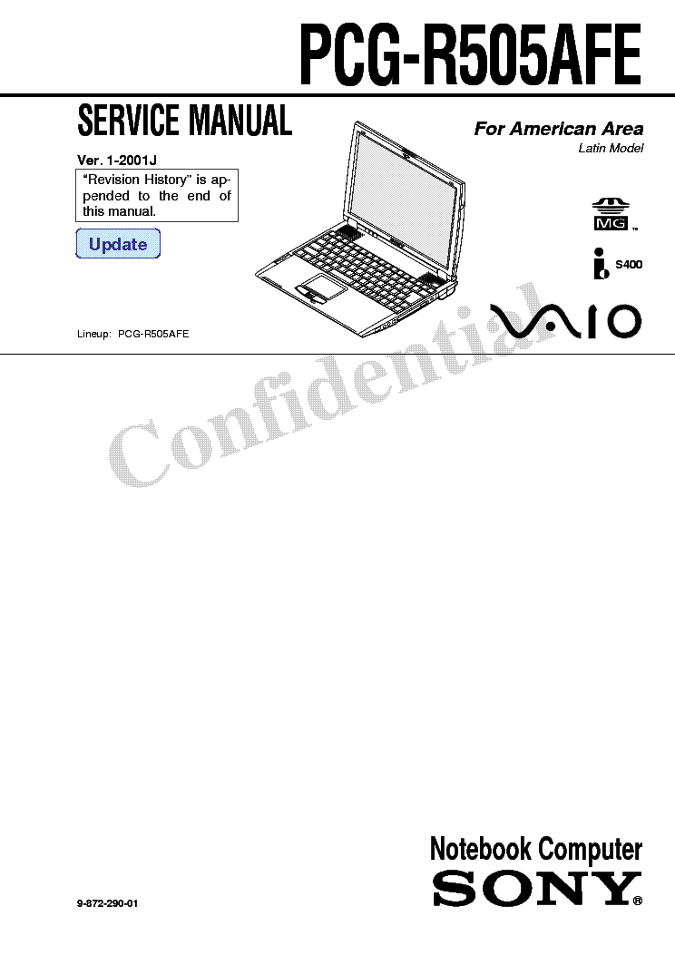 SONY VAIO FCG R505AFE SM Service Manual download