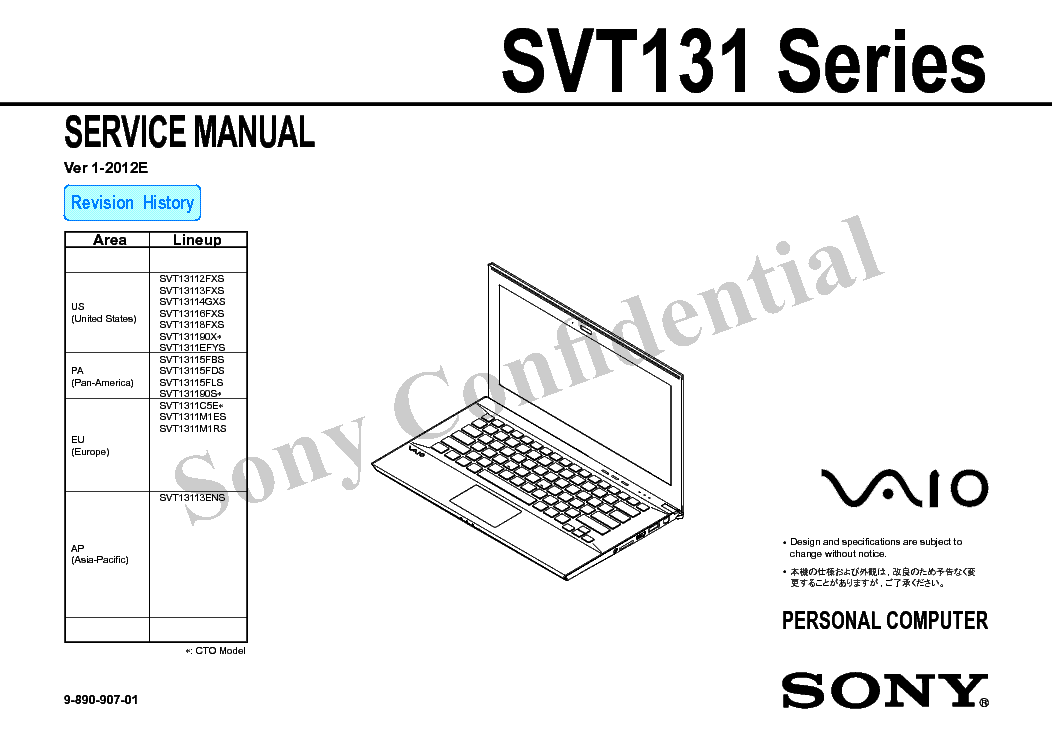 SONY PCG-745 747 748 Service Manual free download