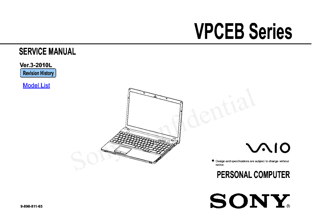 SONY VAIO P5BW-MB ASUS P5BW REV 1.00 SCH Service Manual