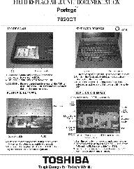 TOSHIBA PORTEGE 7020CT Service Manual download, schematics