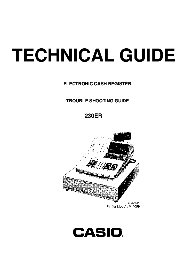 CASIO 230ER Service Manual download, schematics, eeprom
