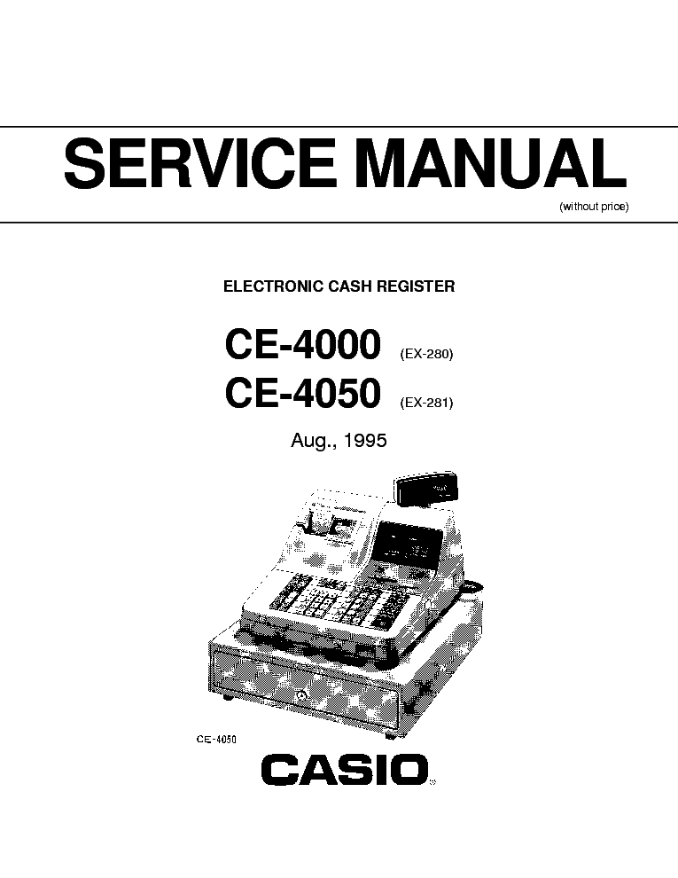 CASIO CE-4000 CE-4050 CASH REGISTER Service Manual
