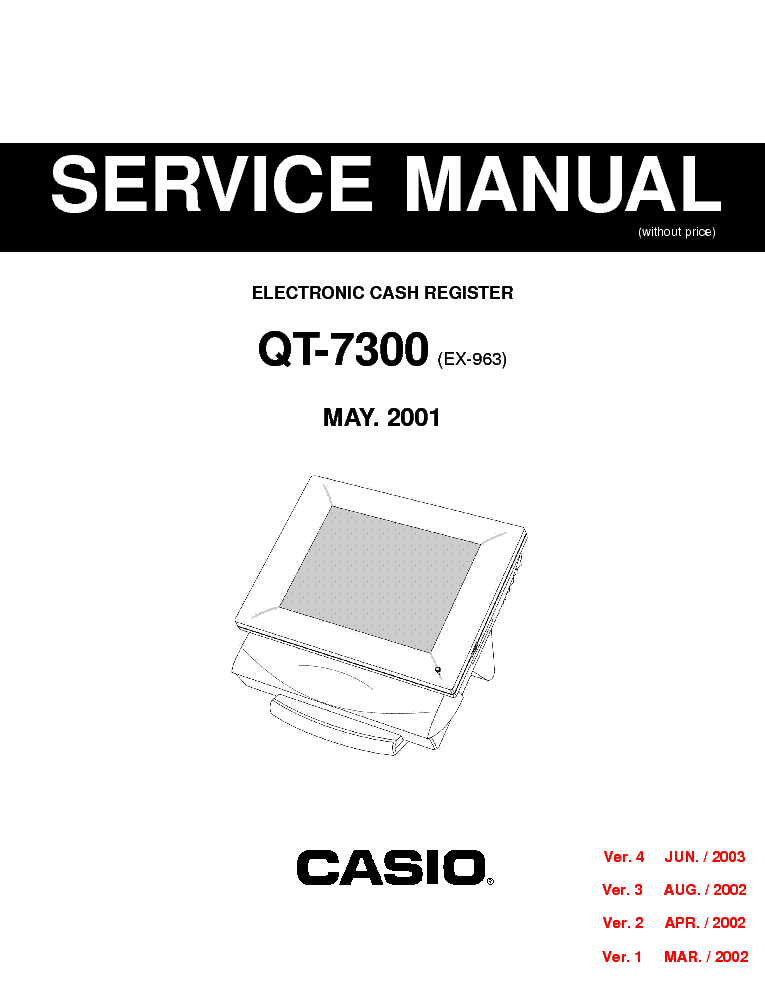 CASIO 130CR PCR-262 CE-160 Service Manual free download