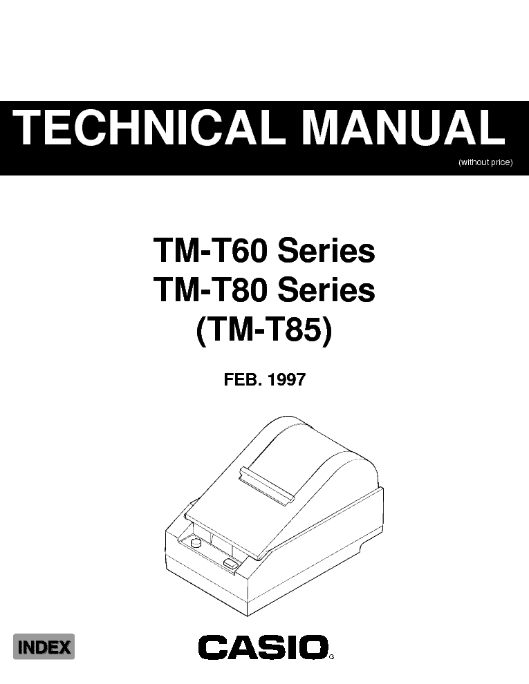 CASIO TMT85 ELECTRONIC CASH REGISTER SM Service Manual