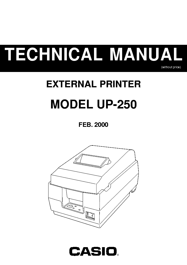 CASIO FE700 ELECTRONIC CASH REGISTER SM Service Manual