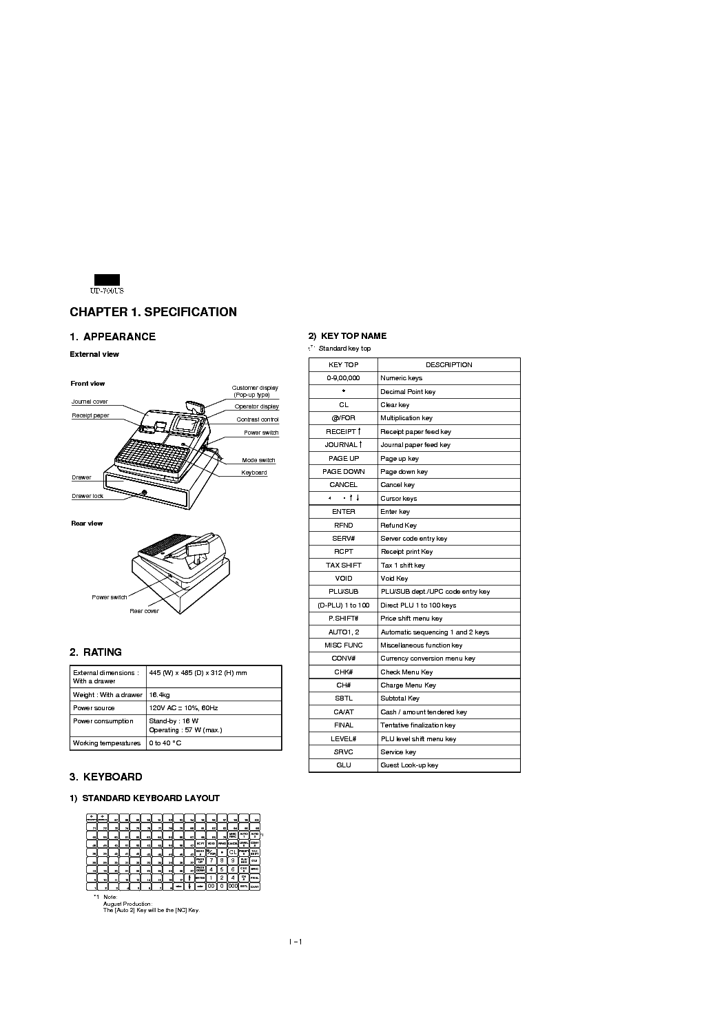 SHARP UP-700 Service Manual download, schematics, eeprom