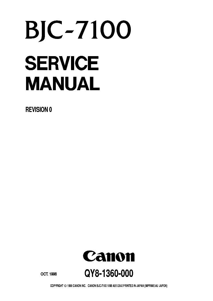 CANON BJC-8000 SM Service Manual download, schematics
