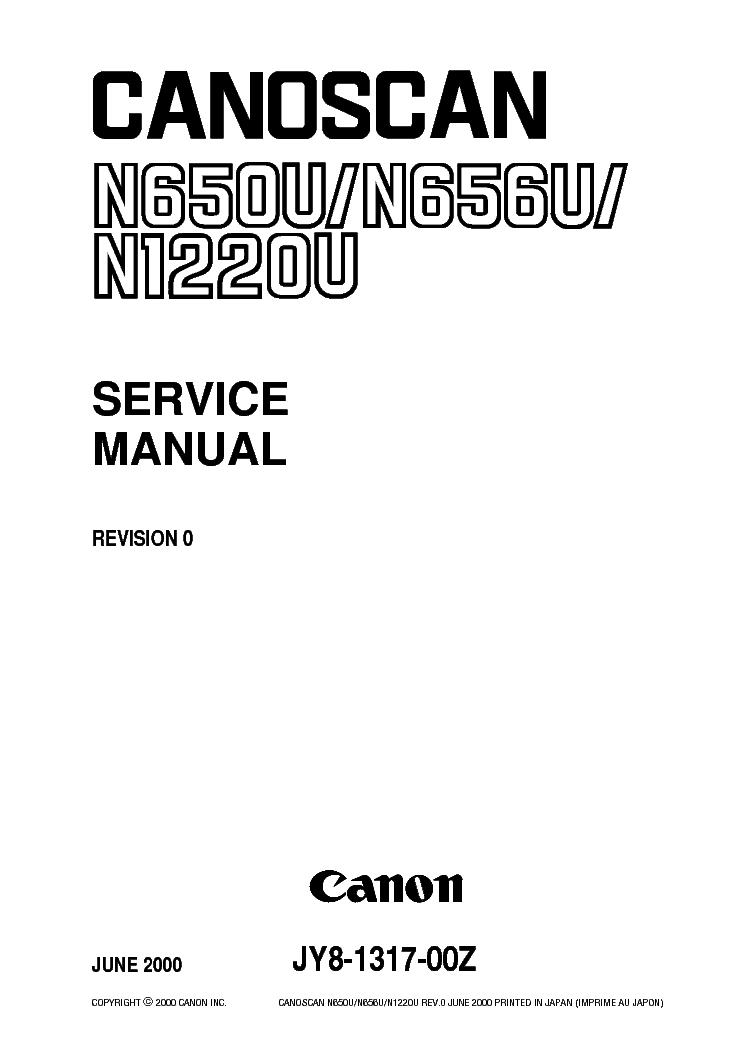 CANOSCAN N650U/N656U DRIVER DOWNLOAD
