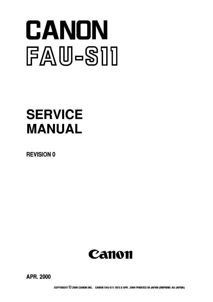 CANON FAU-S11 SM NO-SCH Service Manual download