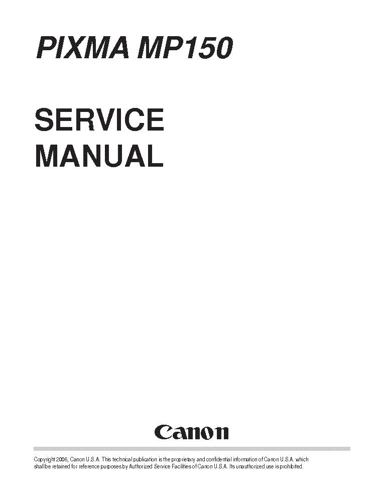 CANON PIXMA IP6600D Service Manual download, schematics