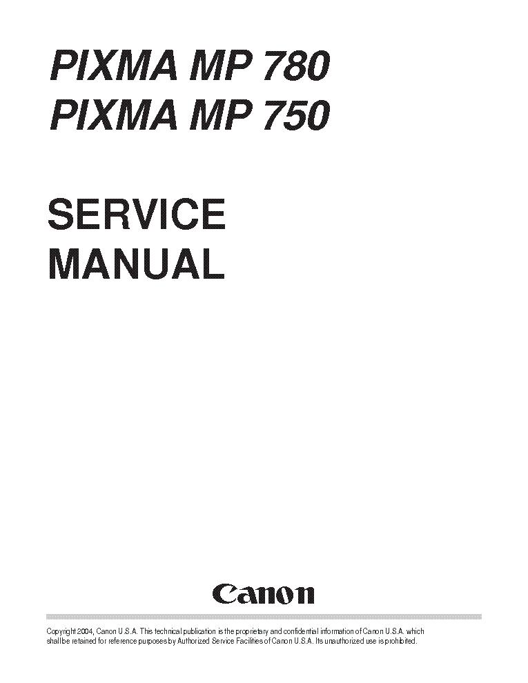 CANON PIXMA MP160 Service Manual free download, schematics