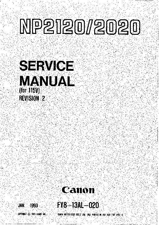 Canon NP2020 NP2120 Service & Repair Manual