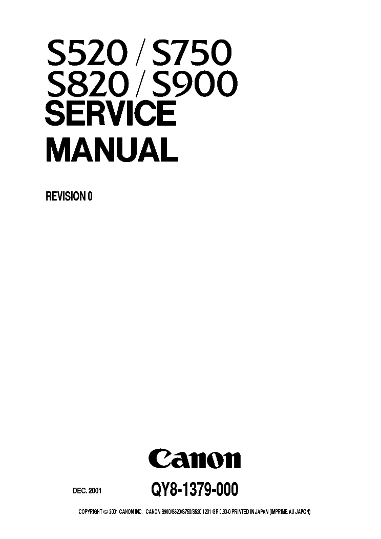 CANON FAX-L900 PARTS Service Manual free download