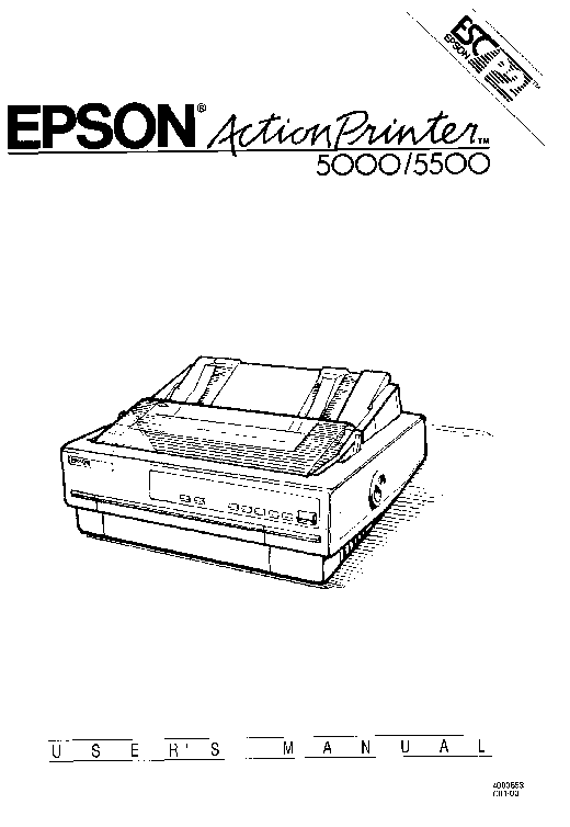EPSON ACTIONPRINTER 5000 Service Manual download