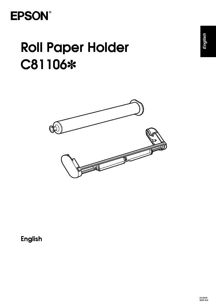 EPSON C811061 ROLL PAPER HOLDER INSTRUCTIONS Service