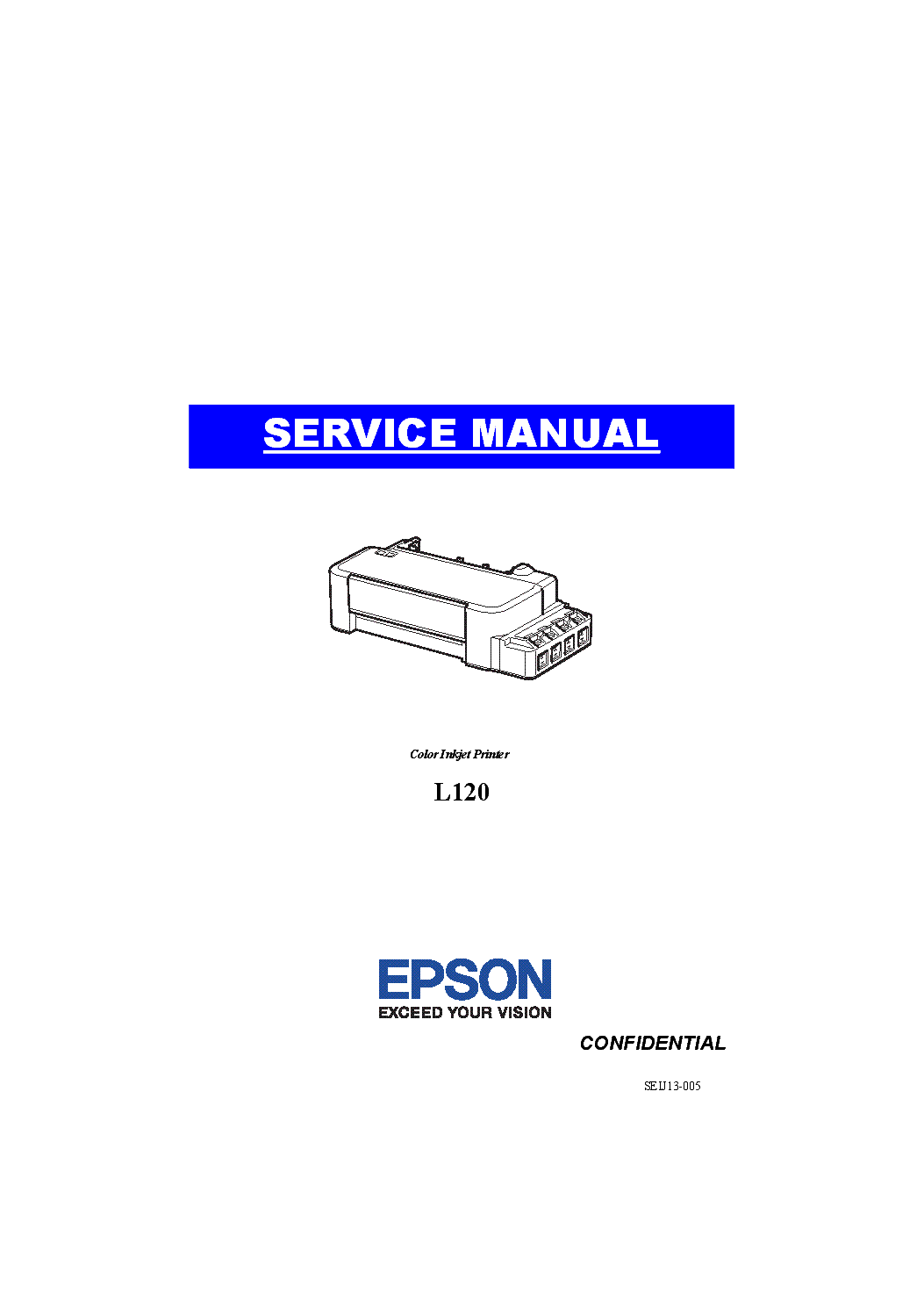 EPSON COLOR INKJET L120 SM Service Manual download
