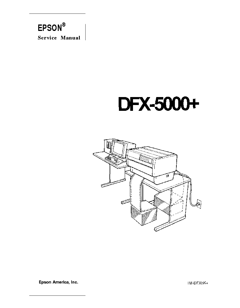 EPSON DFX-5000 PLUS SM Service Manual download, schematics