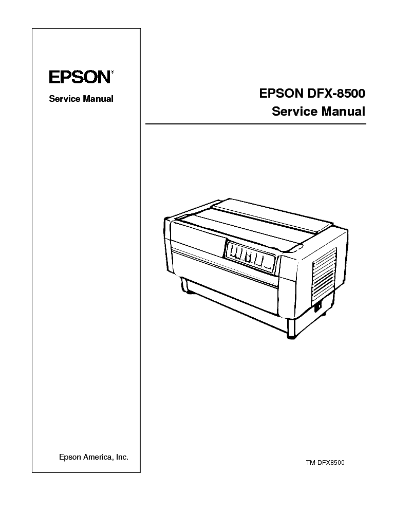 EPSON DFX-8500 SM 2 Service Manual download, schematics
